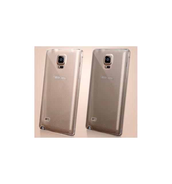 Funda Carcasa Gel Transparente 100% Silicona TPU de Alta Resistencia y Flexibilidad, Ultra Fina 0,33mm para SAMSUNG GALAXY NOTE 4 sm-910F 10