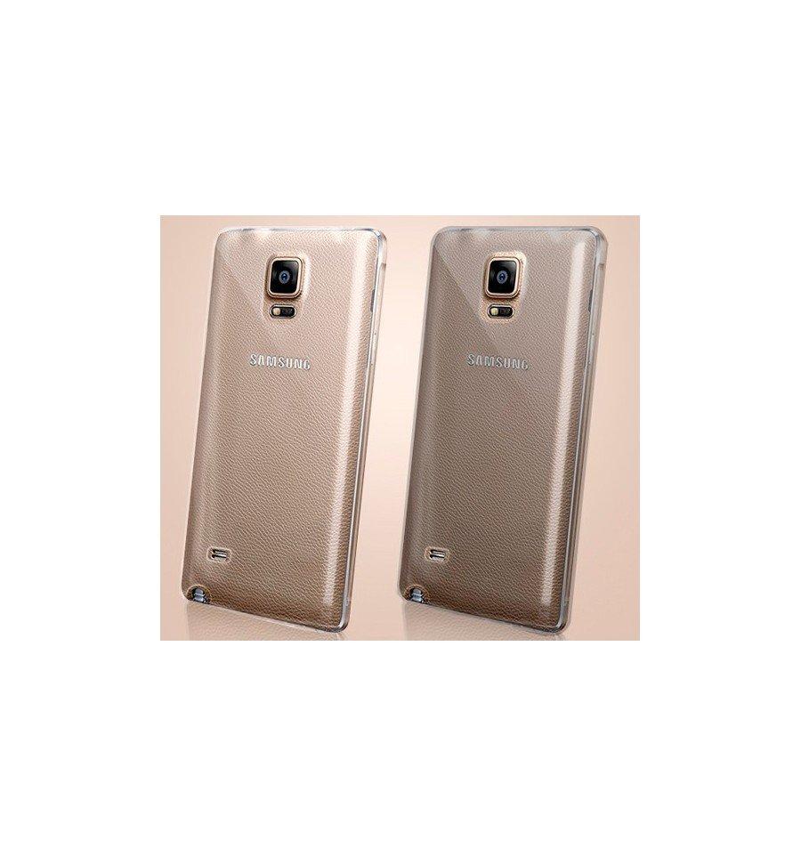 Funda Carcasa Gel Transparente 100% Silicona TPU de Alta Resistencia y Flexibilidad, Ultra Fina 0,33mm para SAMSUNG GALAXY NOTE 4 sm-910F 9