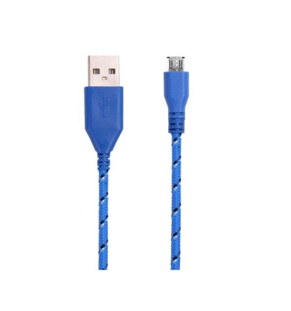 Cable Micro USB de colores (1M) trenzado de Nylon 16