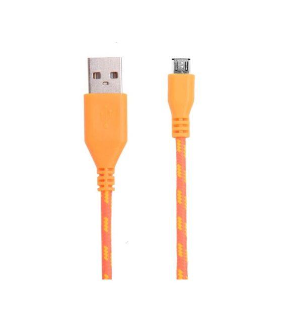 Cable Micro USB de colores (1M) trenzado de Nylon 20