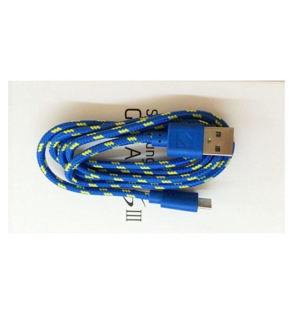 Cable Micro USB de colores (1M) trenzado de Nylon 18