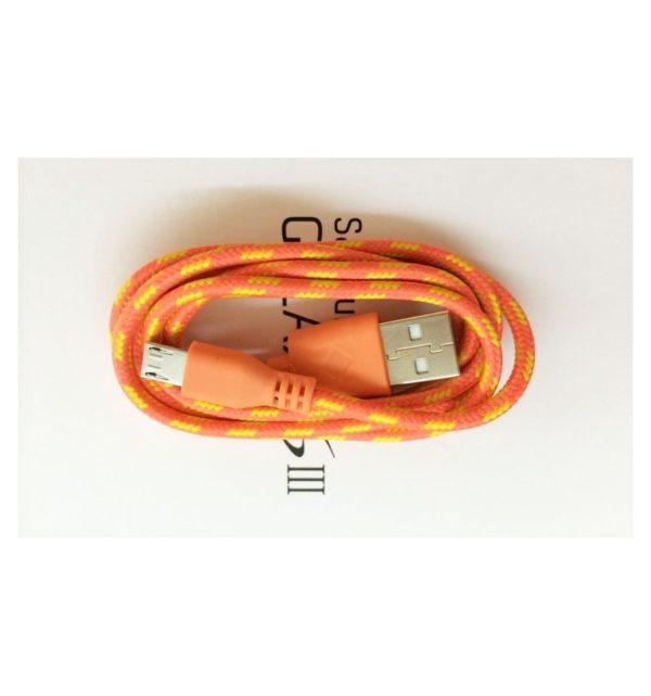 Cable Micro USB de colores (1M) trenzado de Nylon 22