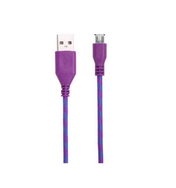 Cable Micro USB de colores (3M) trenzado de Nylon 24