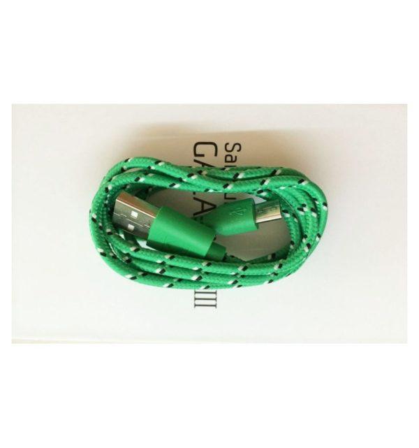 Cable Micro USB de colores (3M) trenzado de Nylon 6