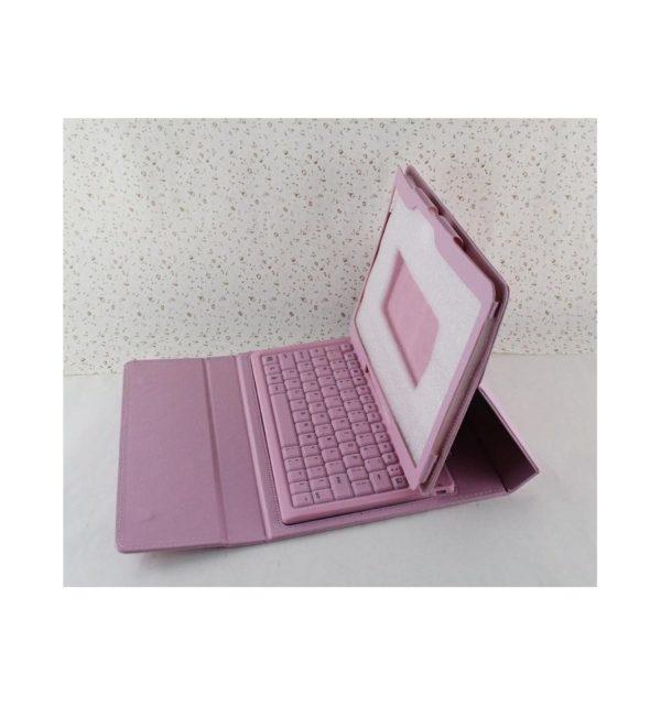Funda cuero PU Samsung Galaxy Tab S 10.5 T800 de Alta calidad soporte y teclado silicona Bluetooth inalámbrico recargable 12