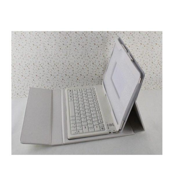 Funda cuero PU Samsung Galaxy Tab S 10.5 T800 de Alta calidad soporte y teclado silicona Bluetooth inalámbrico recargable 16