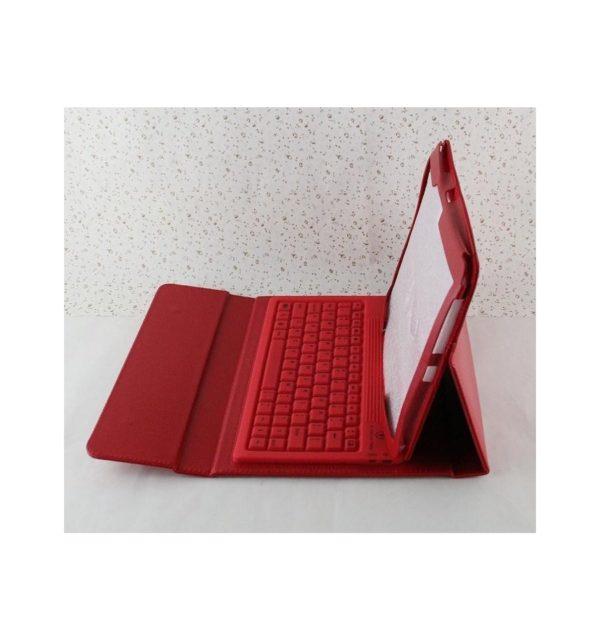 Funda cuero PU Samsung Galaxy Tab S 10.5 T800 de Alta calidad soporte y teclado silicona Bluetooth inalámbrico recargable 20