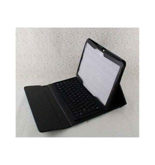 Funda cuero PU Samsung Galaxy Tab S 10.5 T800 de Alta calidad soporte y teclado silicona Bluetooth inalámbrico recargable 22