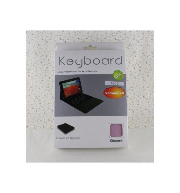 Funda cuero PU Samsung Galaxy Tab S 10.5 T800 de Alta calidad soporte y teclado silicona Bluetooth inalámbrico recargable 6