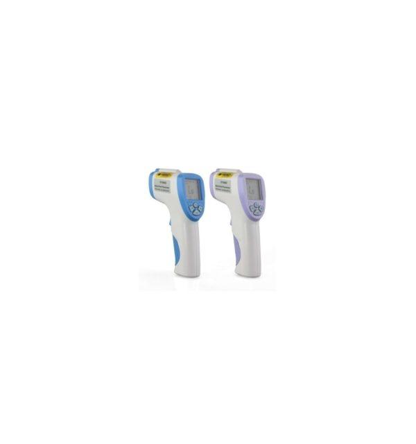 Termómetro infrarrojo, sin contacto, LCD, Digital con funda 8