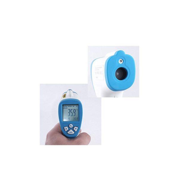 Termómetro infrarrojo, sin contacto, LCD, Digital con funda 9