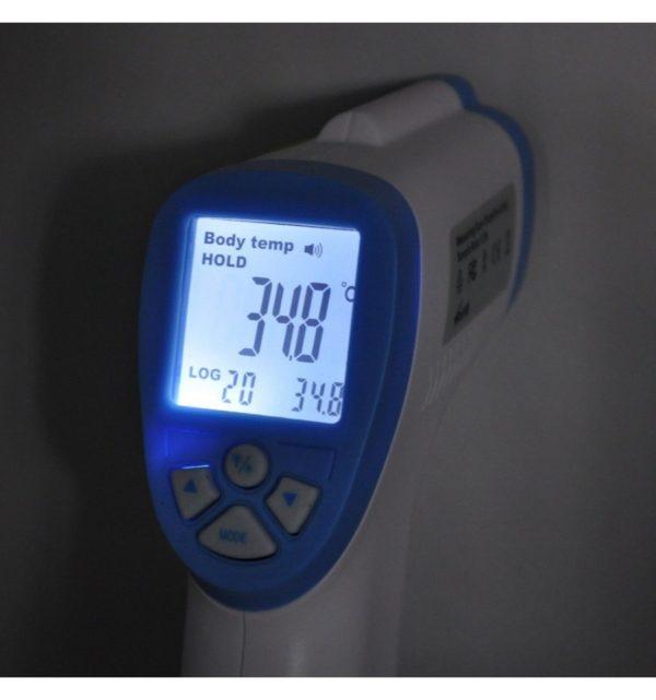 Termómetro infrarrojo, sin contacto, LCD, Digital con funda 6