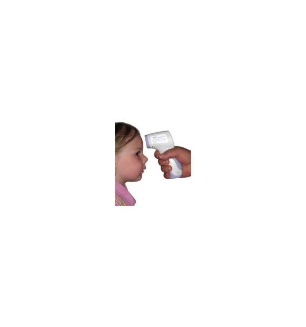 Termómetro infrarrojo, sin contacto, LCD, Digital con funda 4