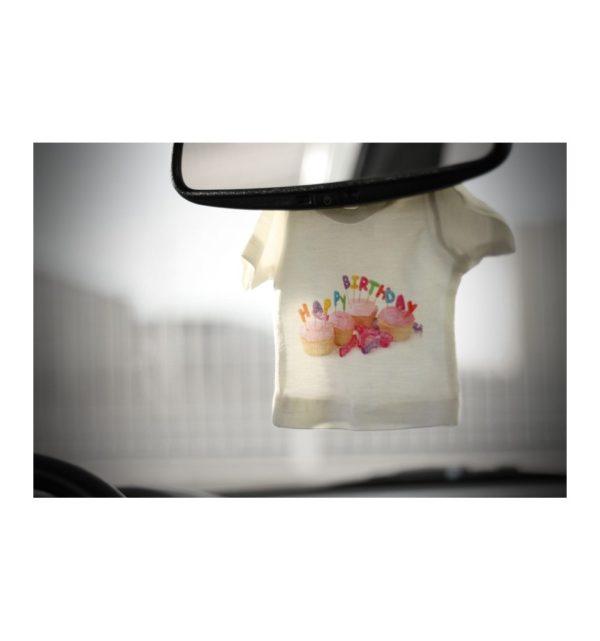 Mini camiseta con percha personalizada 12