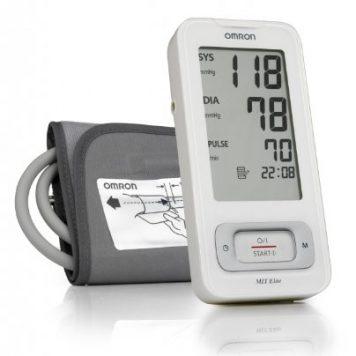 OMRON MIT Elite - Tensiómetro de brazo, detección del pulso arrítmico, tecnología Intellisense para dar lecturas rápidas y precisas