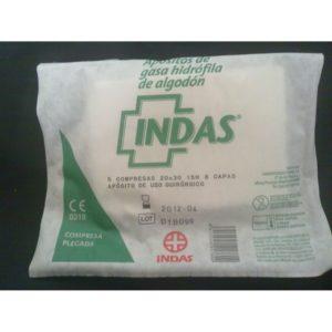 Apósito de Gasa Hidrófila de Algodón Indas 5 u/100 u 18