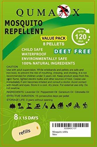 8 envases de recambio de pastillas para la protección contra los mosquitos - Paquete de recambio para 120 días para Urban Living ANTIMOSQUITOS 2