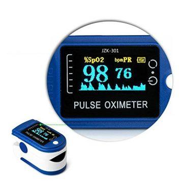 Pulsioximetro Profesional LED Monitor CMS 50D saturado