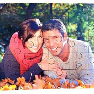 Puzzle de madera personalizado con foto. 30 piezas. Tamaño 18x25cm. Con caja personalizada para guardar las piezas.