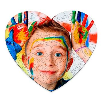 Puzzle Corazón cartón 111p personalizado con tu foto, diseño o texto. Regalo único, original y exclusivo. Regalo para enamorados. Regalo con Amor.