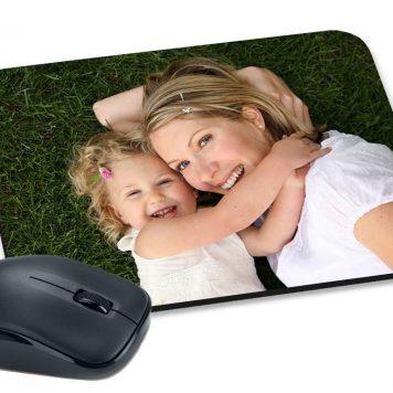 Alfombrilla para ratón personalizada con tu foto en forma rectangular