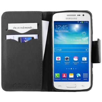 para Samsung Galaxy Core 4G SM-G386F [Dimensiones PRECISAS de su aparato : 132.9 x 66.3 x 9.8 mm, pantalla 4.5''] - Funda Carcasa
