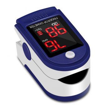 Oxímetro de Pulso Pulsómetro Dedo Digital Pulsioxímetro de Dedo Profesional con Pantalla LED, Medidor de Oxígeno en Sangre SpO2 y Monitor de Frecuencia