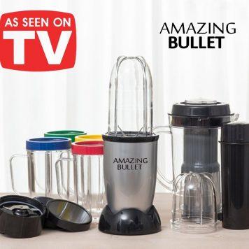 Amazing Bullet 9 en 1.Mega kit de batidora con 21 piezas con licuadora incluidaTrituración magic superrápida con muchos accesorios incluidos – tritura