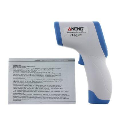 termómetro digital de infrarrojos bebé adulto frente