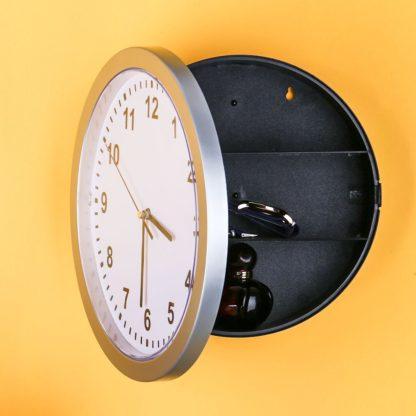reloj de pared moderno con caja fuerte oculta, joyería secreta Relojes de seguridad Caja