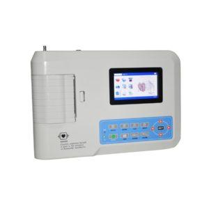 Electrocardiógrafo Portátil ECG EKG Digital 3-canales con pantalla táctil TFT LCD a color con Software 2
