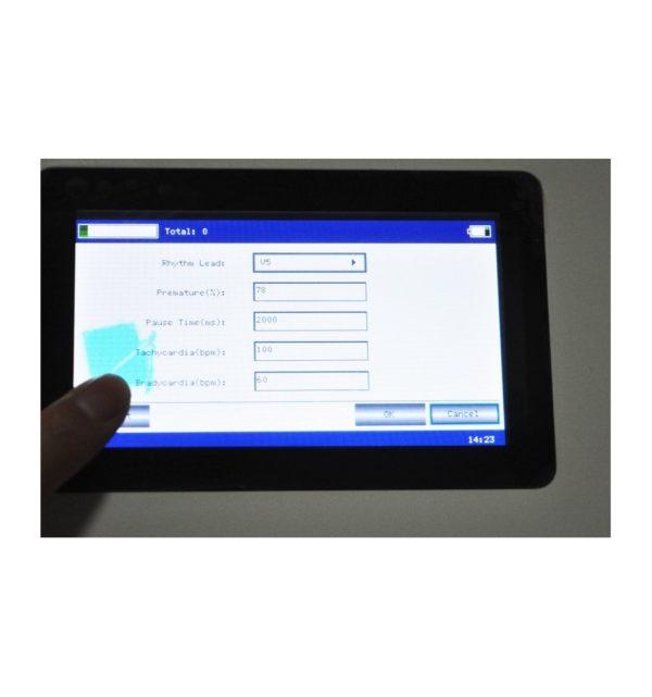 Electrocardiógrafo Portátil ECG EKG Digital 3-canales con pantalla táctil TFT LCD a color con Software 10
