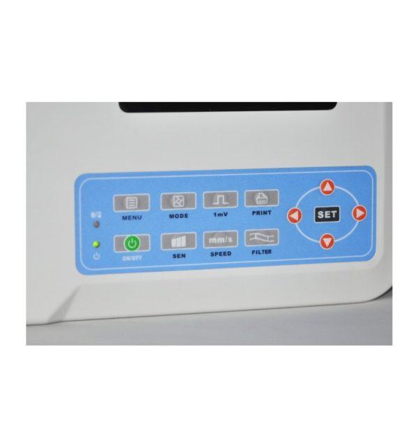 Electrocardiógrafo Portátil ECG EKG Digital 3-canales con pantalla táctil TFT LCD a color con Software 12