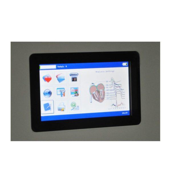 Electrocardiógrafo Portátil ECG EKG Digital 3-canales con pantalla táctil TFT LCD a color con Software 16