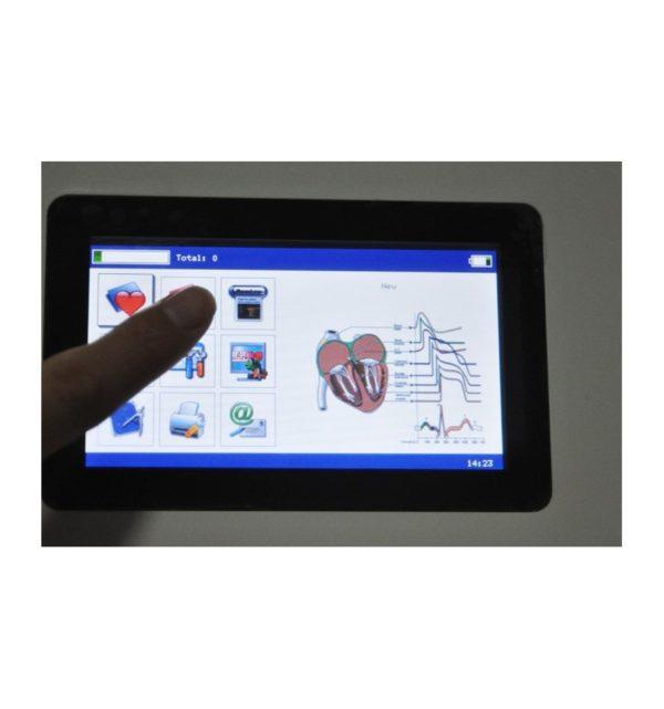 Electrocardiógrafo Portátil ECG EKG Digital 3-canales con pantalla táctil TFT LCD a color con Software 18