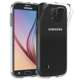 Funda para Samsung Galaxy S5, Anti-Choques y Anti-Arañazos, Transparente