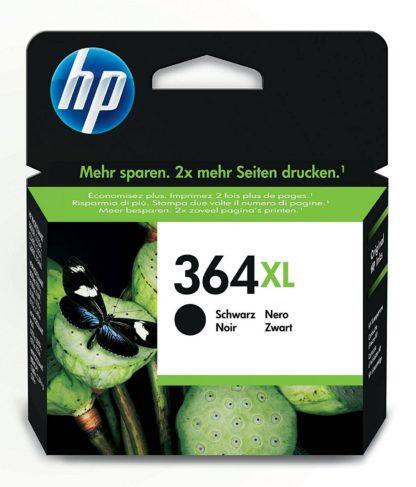 HP 364XL - Cartucho de tinta Original HP 364 XL de álta capacidad Negro para HP DeskJet, HP OfficeJet y HP PhotoSmart