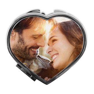 Espejo corazón personalizado con tu foto, diseño o texto. Regalo único, original y exclusivo. Regalo para enamorados. Regalo con Amor.