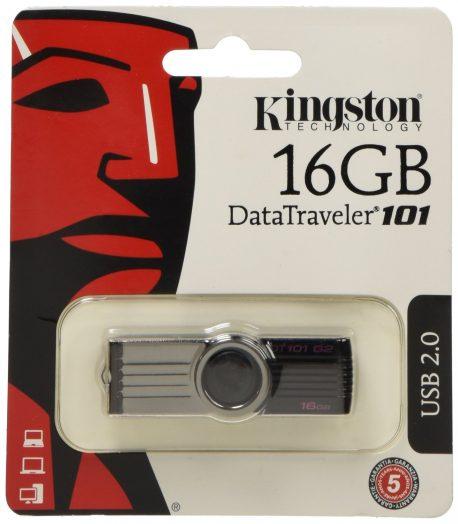 Kingston DataTraveler 101 Generación 2 DT101G2 - Memoria USB de 16 GB, negro