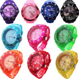 Reloj de Silicona Colores Unisex con Calendario